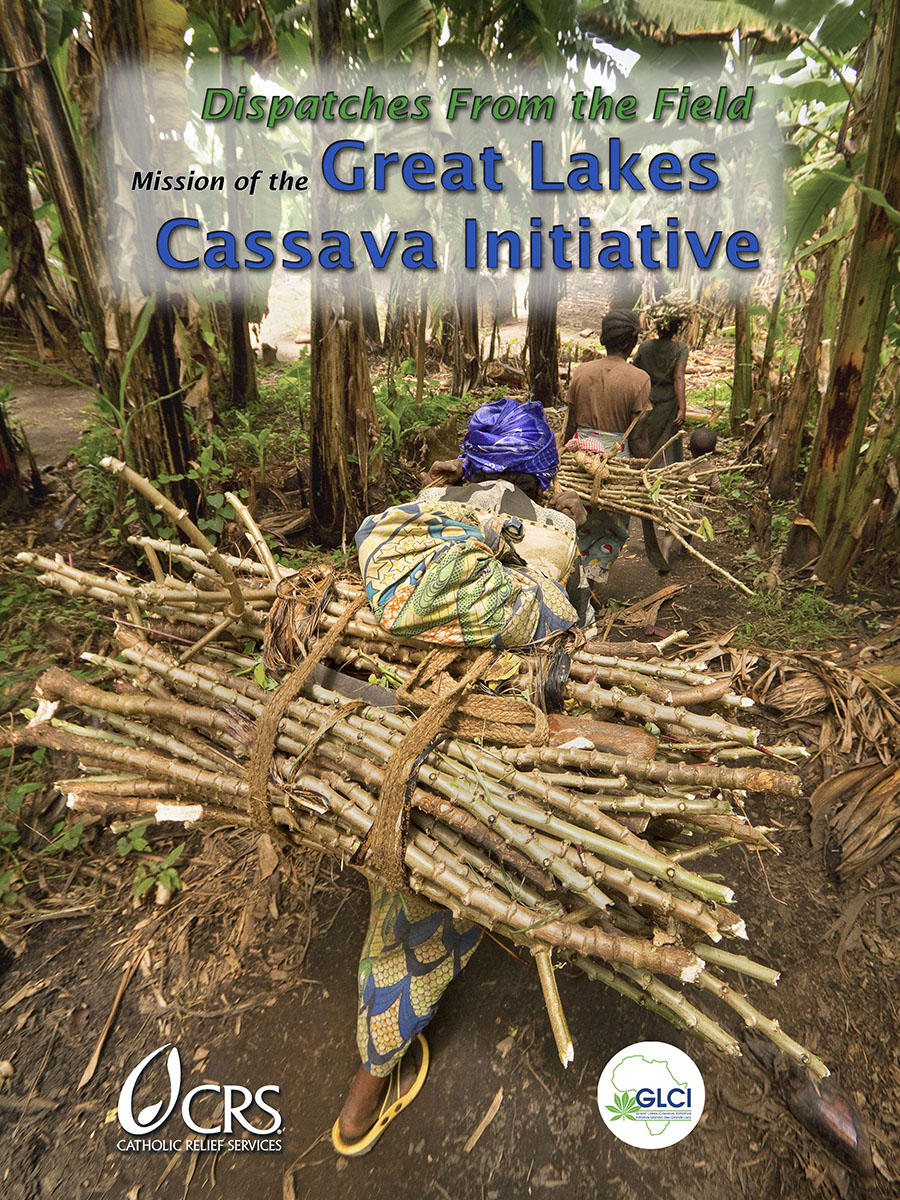 """Dispatches from the Field"" Front Cover. Photography, text and design for Great Lakes Cassava Initiative."